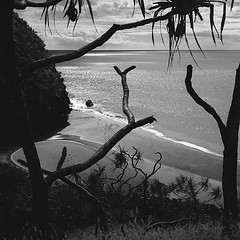 19600701b11hanakapeibeach (rhn3580) Tags: hanakapei beach hawaii footprints kawaii paradise ocean pacific kalalautrail