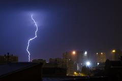 Storm in the city (Lolo_) Tags: lightning storm marseille orage éclair foudre immeubles buildings ville thunderstorm nuit france rain pluie