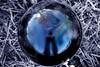 crystal ball (mariola aga) Tags: crystalball grass me reflection distortion trees sky funshot selectivecolors art