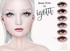 NEW! IGOTIT - Basic Eyes (IGOTIT [blog]) Tags: eyes igotit igotitstore life mesheyes omega second secondlife sl