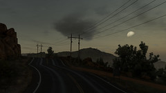 Back on the road (Nocha_Productions) Tags: night moon helicopter airplane road trees clouds sky art screenshot cinematography consoles gaming gamingscreenshot games game gamingart gallery gamingpicture pics pc pic picture photography photo mountain stone telephoneline electricline ghost recon wildlands ghostreconwildlands tom clancy tomclancy ubisoft anvil