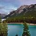 Mountain Peaks of the Fairholme Range and Turquoise Waters of Lake Minnewanka (Banff National Park)