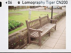 Reading seat ? (bigalid) Tags: rollei a110 c41 carlisle july 2017 film 110 lomographytiger200cn dumfries bench