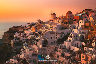 Sunset Magic in Oia, Santorini, Greece