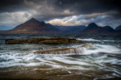 The Land Before Time (Augmented Reality Images (Getty Contributor)) Tags: hebrides longexposure isleofskye scotland leefilters waves cliffs water mountains cuillin island canon rocks elgol clouds unitedkingdom gb