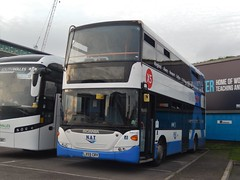 LX59 CRV (Jacquack) Tags: scania n230ud mobitec zf omnicity stagecoach selkent nat group new adenture adventure travel bus cardiff central rail replacement newport