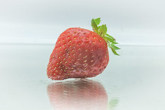 Day 269: Strawberry (Howie1967) Tags: vegetable fruit high key hikey reflection studio canon 5d 5d2
