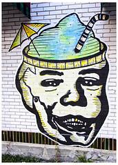 Brain Freeze (swanksalot) Tags: streetart graffiti chicago wickerpark ukrainianvillage tweeted cocktail
