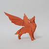 Winged wolf (triangleorigami) Tags: origami trigami triangleorigami paper folding winged wings wolf nguyenlinhson origamivietnam