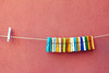 All Alone (raffaella.rinaldi) Tags: color colorful wire laundry alone clothespins nopeople different details