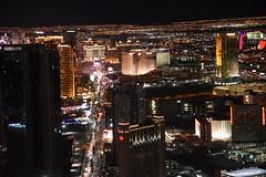 View from Stratosphere down Las Vegas Strip (rq uk) Tags: rquk nikon d750 night lasvegas highiso lights nikond750 afsnikkor28300mmf3556gedvr stratosphere lasvegasstrip