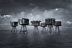 Guardians (Andrew G Robertson) Tags: scifi maunsell sea fort red sands thames kent essex abandoned derelict navy war alien atat star wars