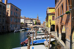 Canale della Vena in Chioggia (B℮n) Tags: chioggia veneto lagoon island cathedrale fishmarket harbor fishing port pace life italië italia italy ronams clodia seafood panorama panoramico boat ships tour locals canals boats unspoiled bridgde town colors tourism vacation holiday summer architecture historic authentic canal vena bridge historical 50faves topf50