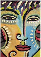 Postcrossing US-4912962 (booboo_babies) Tags: face painting art postcrossing 1987
