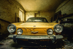 Bellezza dimenticato (Thomas Junior Fotografie) Tags: fiat 850 car oldtimer exploration explorer exploring explore rotten old övergivna places place photography photoshop lost lp light licht lumiere lostplace luce lightbeam yellow gold abandoned abbandonata abandonné abadono alpha58 alpha77 alpha77mii alpha abandonati abandonata abbandonate art alt villa verladten verfall verlassen vecchio vehicle scenery hdr garage broken