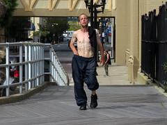 Faith (Multielvi) Tags: atlantic city new jersey nj shore boardwalk man guy dude tattoo bare chest shirtless candid