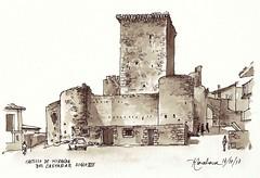Castillo de Miranda del Castañar (P.Barahona) Tags: castillo rural urbano sepia tinta pluma arquitectura monumento plaza