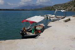 Butrint, Albania (Ostaleri) Tags: boatman river butrint albania estuary crossing