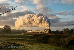 Golden age take 2 (Matt.Evans44871) Tags: 60009 uosa union of south africa elr east lancashire railway 3p20 burrs bury lancs steam locomotive sunrise glint