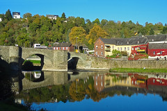 Bridge reflection (Rob de Hero) Tags: runkel germany deutschland heimat home bridge brücke reflection spiegelung lahn river fluss autumn herbst