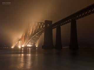 Forth Bridges in the mist