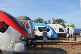 TRAKO Railway Fair rolling stock exposition , Gdańsk Stadion EXPO train station 29.09.2017