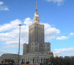 Poland (Warsaw) Palace of Culture and Science, built in Seven Sisters' architecture1 (ustung) Tags: warsaw poland palace sevensisters building style architecture sky city culture science nikon