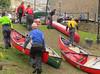 End of canoe practice, Llangollen, Wales. (Nigel L Baker) Tags: canoes