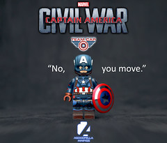 "CA: Civil War ⭐ ""No, you move."" [MCU] [A DAY IN THE LIFE] (agoodfella minifigs) Tags: lego marvel marvellego legomarvel minifigures marvelcomics comics heroes captainamerica steverogers civilwar mcu sharoncarter"