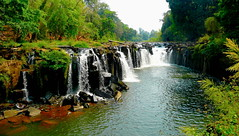 Falling for the Bolaven Plateau (Eye of Brice Retailleau) Tags: outdoor landscape nature scenic paysage rock composition perspective extérieur pierre formation rocheuse waterfall cascade travel scenery vista panorama water eau asia asie laos ciel arbre