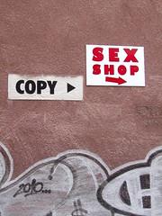 Copy the sex (vittorio vida) Tags: sex copy sign signboard street wall graffiti murale sarajevo red