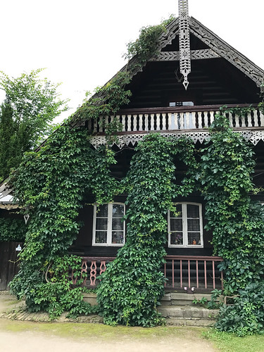 Ivy-covered Russian house