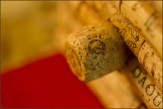 Souvenir from wine country - Macro Mondays (Karon Elliott Edleson) Tags: 7dwf macromondays souvenir birdhouse ornament wine macro corks perch tamron 60mm