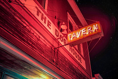 THE DOG HOUSE TAVERN (LOURENḉO Photography) Tags: night tavern langley doghouse thedoghouse art stars red light architecture bar dring historic street washington beautiful stage waterfront vintage road dreamy explore