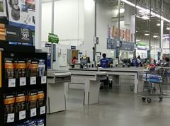 Temporary pharmacy, as seen from the checklanes (l_dawg2000) Tags: 2017remodel apparel café desotocounty electronics food gasstation meats mississippi ms pharmacy photocenter remodel samsclub southaven tires walmart wholesaleclub unitedstates usa