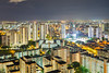(MH Saiful) Tags: skyline nightscape architecture hdb singapore long exposure