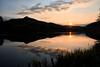 Sous le ciel qui rougeoie (Croc'odile67) Tags: nikon d3300 sigma contemporary 18200dcoshsmc paysage landscape nature ciel coucherdesoleil sky reflexion reflet étang eaux