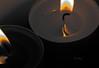 tandem (vieux rêveur) Tags: bougie candle desaturation jaune yellow nb bw reflet