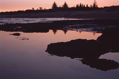 Mona Vale [Nikon F5 Film] (Aviator195) Tags: film filmphotography fuji fujichrome fujifilm provia provia100f fujiprovia nikon nikonf5 f5 epson epsonperfection epsonv550 filmisnotdead nikonfilm australia istillshootfilm mona vale monavale monavalebeach beach northern beaches sydney northernbeaches pittwater water reflection sunset dusk evening spring waterscape beachscape seascape