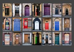 Barnsley in Polyptych (#20) - Doors (S.R.Murphy) Tags: polyptych barnsleyinpolyptych door doors panel mosaic photomosaics barnsley yorkshire england urban urbanlandscape fujifilmxt2 fujifilmxf35mmf2 lightroomcc october2017 building flickrexplore08102017