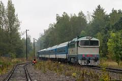 T478.3001 by PlessRail - 2017.09.23 || Orlová || T478.3001 na popychu pociągu specjalnego po liniach AWT, opuszcza stację Orlová. Skład prowadzi T478.1002.  plessrail.pl