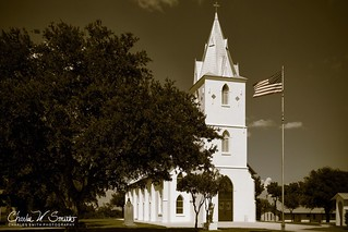 IMMACULATE CONCEPTION CATHOLIC CHURCH, PANNA MARIA, TEXAS: This beautiful old church is located about a mile off of Highway 123, in the small, South Texas town of Panna Maria.
