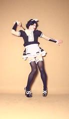 138videoclipL (klarissakrass) Tags: costume crossdress cosplay heels stockings gurl dance moves performance