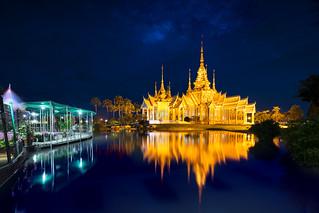 Wat None Kum by night, Nakhon Ratchasima province Thailand