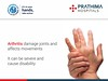Prathima hospitals - world arthritis day (1) (PrathimaHospitals) Tags: prathimahospitals world arthritis day healing hands for 5 factors associated with psoriaticarthritis psa pitted fingernails swollen fingers toes foot pain tender or ligament joint stiffness andor personal family history psoriasis damage joints affects movements it can be severe cause disability
