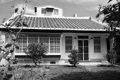 Japanese Home (superzookeeper) Tags: formosa 5dmk4 5dmkiv canoneos5dmarkiv ef2470mmf28liiusm eos digital taiwan tw hsinchu beipu architecture house japanesestyle japanesehouse blackandwhite bnw monochrome street
