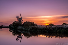 Turf Fen Mill (Daniel Coyle) Tags: turffenmill norfolk norfolkbroads turffen windmill mill horningmarsh marsh horning river ant riverant reflections water sunset greatyarmouth norwich suffolk fens broads danielcoyle d7100 nikon nikond7100 uk england sun countryside longexposure