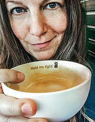 I will (Melissa Maples) Tags: ludwigsburg deutschland germany europe apple iphone iphone6 cameraphone me melissa maples selfportrait woman brunette café coffeefellows mug holdmetight text caffelatte brown coffee drink food
