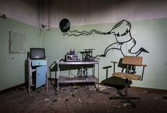 Manicomio Di C Abandoned psychiatric Hospital - Therapy Room
