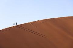 Dune 45 (Sossusvlei/Namibia) (www.holgersbilderwelt.de) Tags: namibia dune nature light sky travel landscape color mountain outdoor way africa shadow amazing desert weather scenic silhouette perspective safari national park